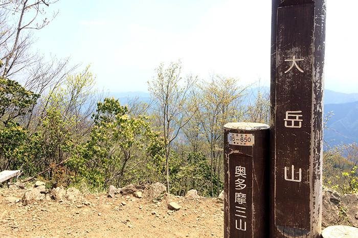 大岳山の山頂
