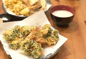 天ぷらなど旦那さんが作った料理