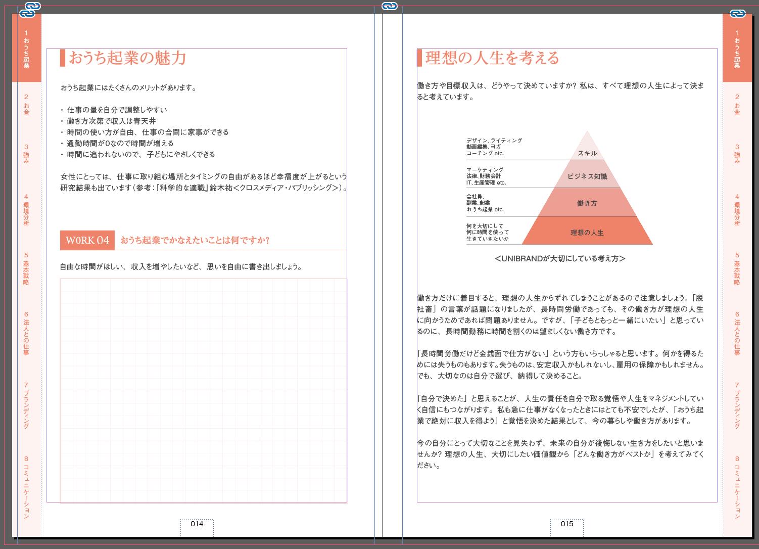 おうちで起業手帳のサンプル